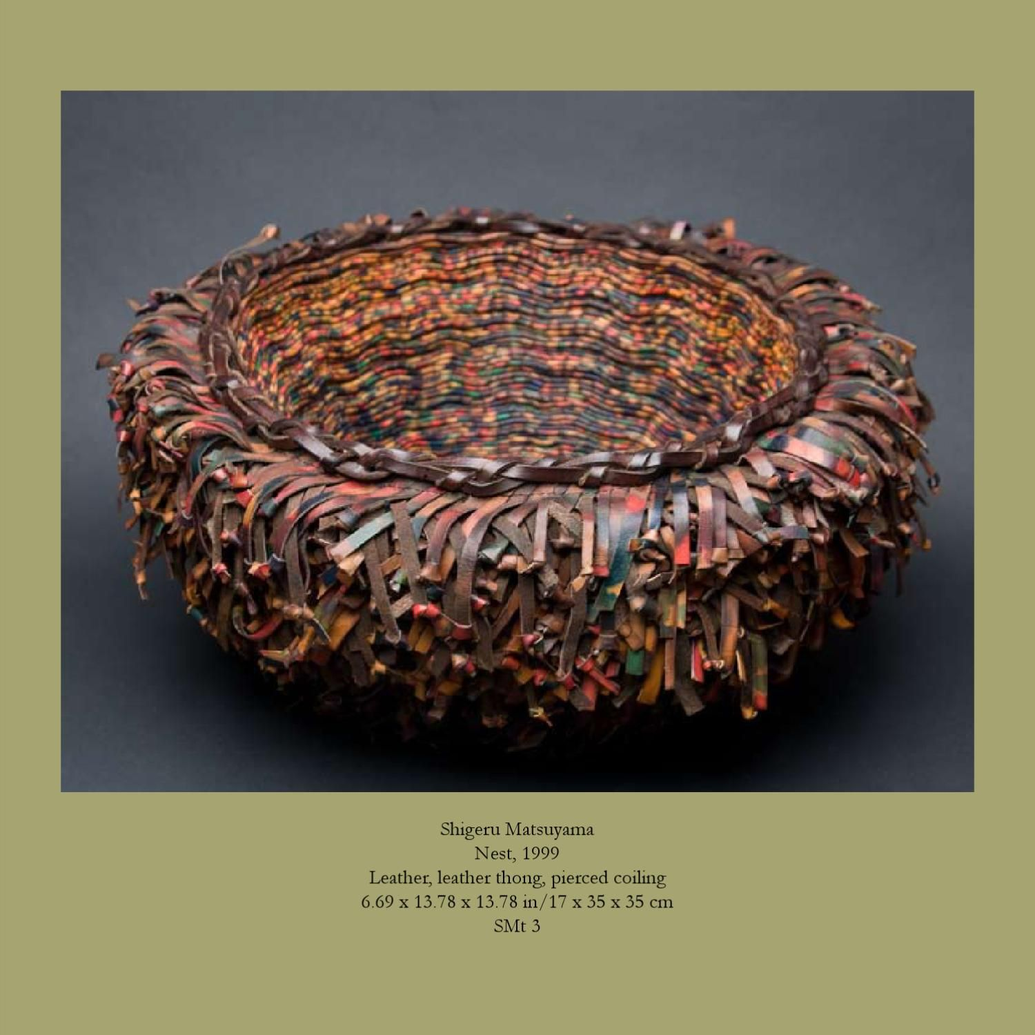 ISSUU - Uncontained Excitement: Woven Sculpture From Japan by Cavin-Morris Gallery