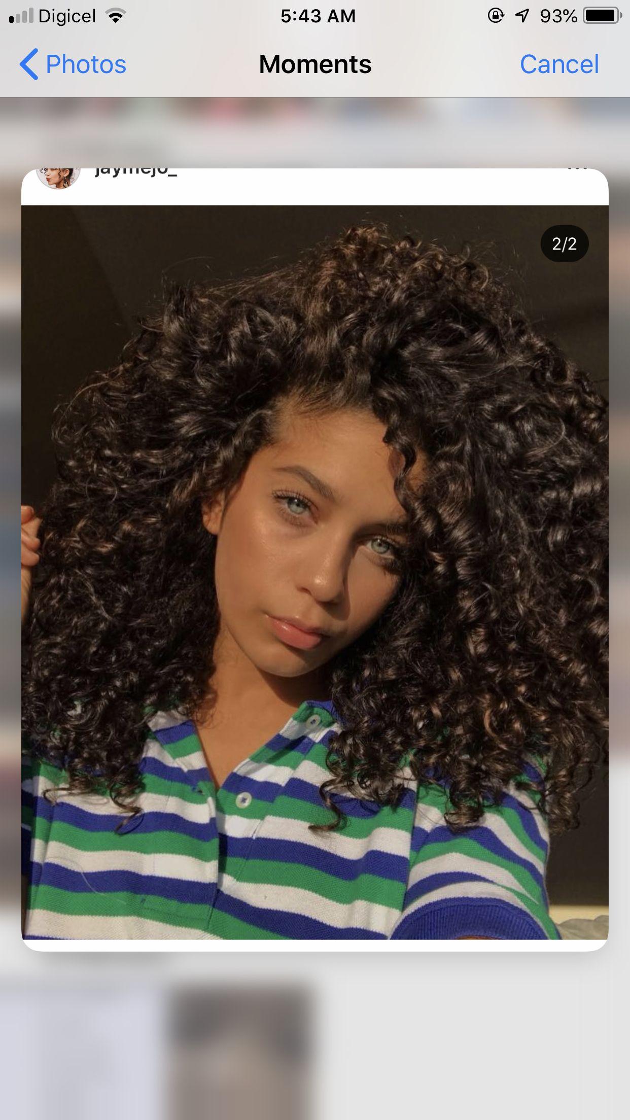 Jay Mejo Curly Dark Brown Hair Light Skin Girls Curly Girl Hairstyles Light Skin