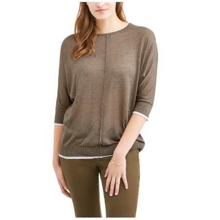 Thyme & Honey Women's Lightweight Tunic Sweater, Size: Small ...