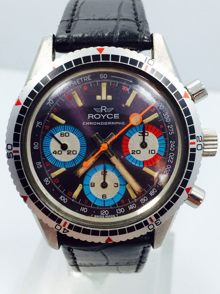 fs royce multi color diver chronograph valjoux 72 5 o. Black Bedroom Furniture Sets. Home Design Ideas