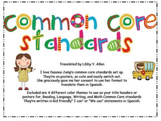 $8 00 Common Core Standards in Spanish, with format from