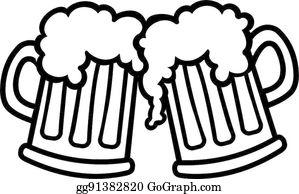 Cheers Beer Clip Art Royalty Free Beer Mug Clip Art Beer Drawing Beer Tattoos