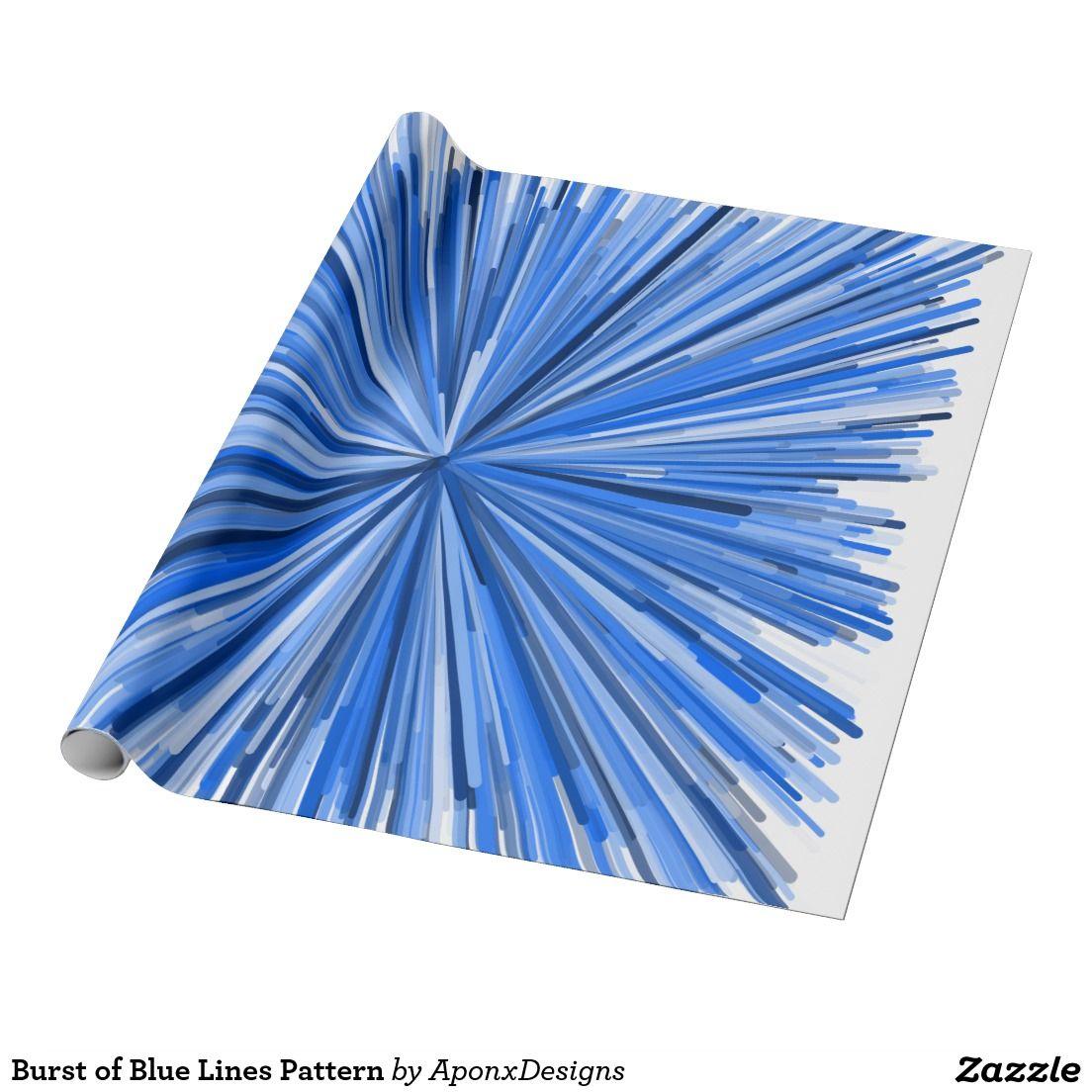 Burst of Blue Lines Pattern