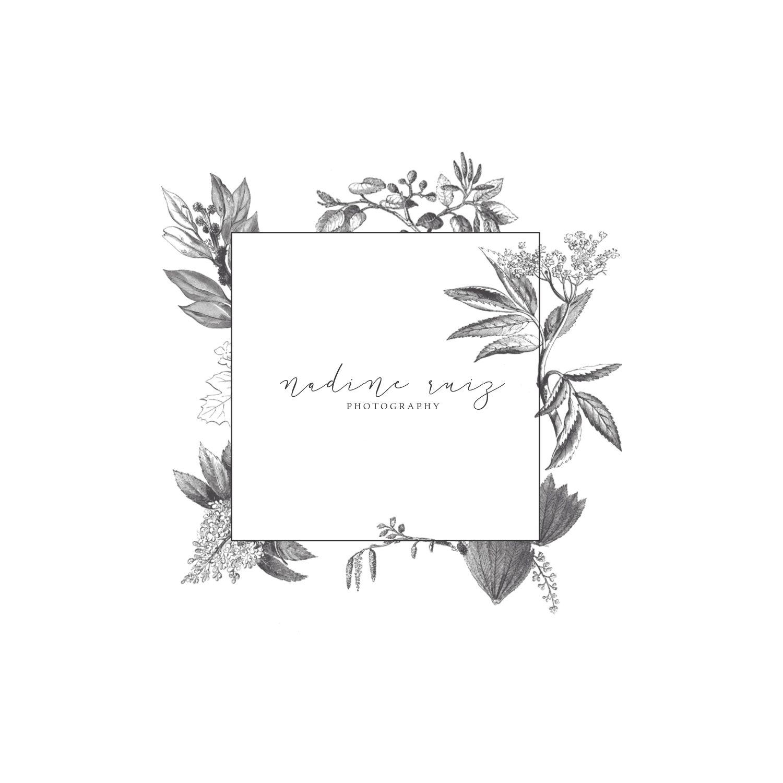 floral, modern, classic, elegant logo design branding by
