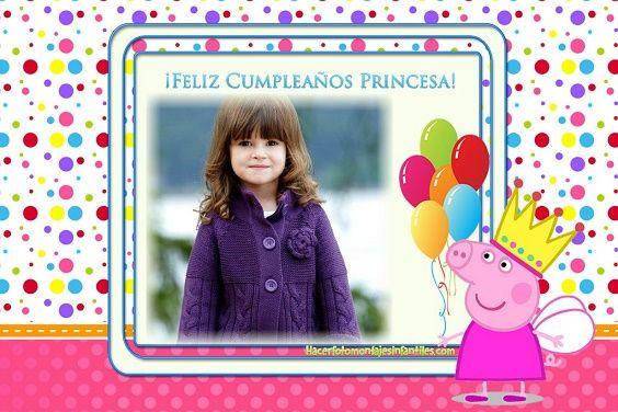 Fotomontaje De Feliz Cumpleaños Con Peppa Pig Feliz