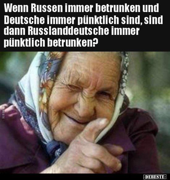 Wenn Russen immer betrunken und Deutsche immer pünktlich.. | Lustige Bilder, Sp… – Lustig – #betrunken #Bilder #Deutsche #immer #lustig