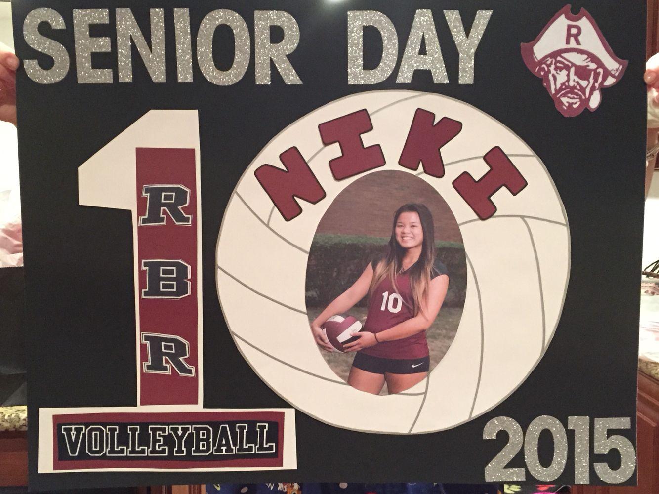 Senior Day Volleyball Poster Senior Day Volleyball Posters Senior Posters