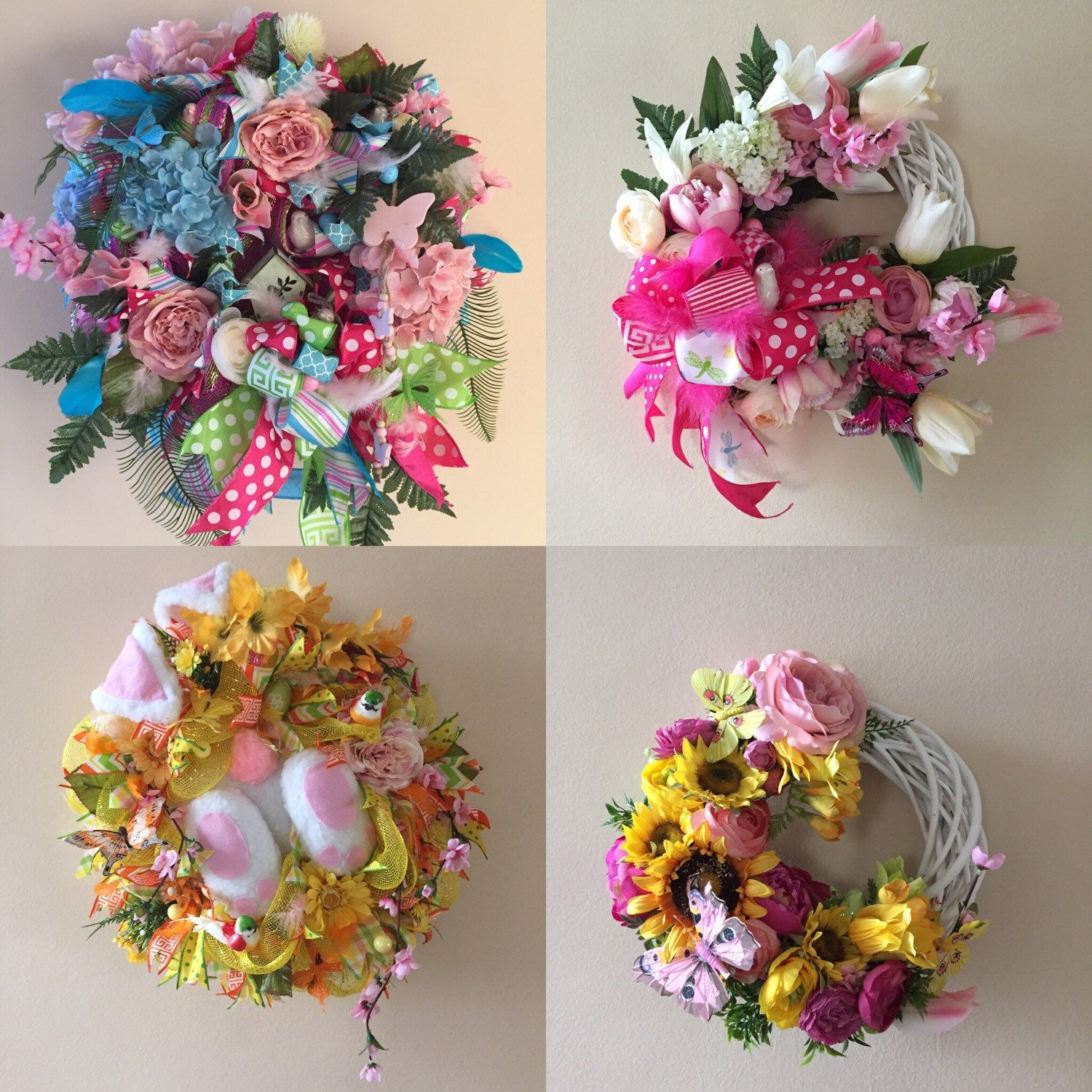 Awesome Bunny Wreath And More Great For Easter Or Spring