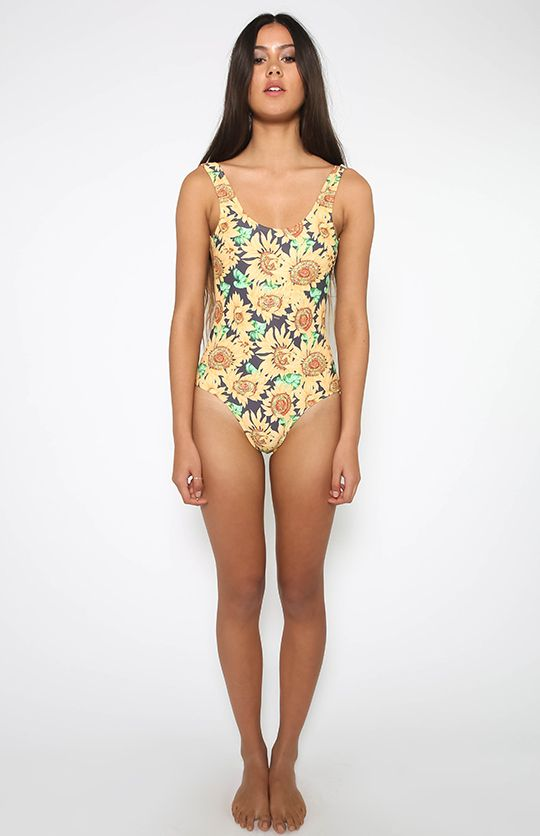 4984c92c4d Afends | Sunflower One Piece Swimsuit - Sunflower | New Arrivals |  Peppermayo