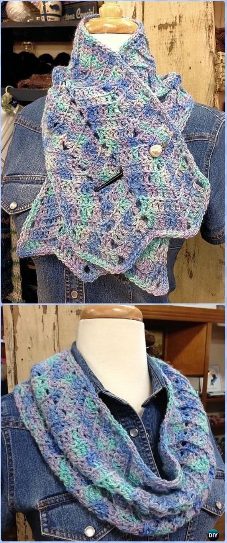 Crochet Chevron Rising Collared Cowl Free Pattern - Crochet Infinity ...