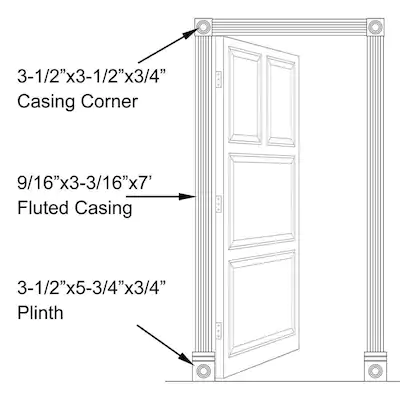 Inteplast Group Building Products 3 5 In X 7 Ft Interior Prefinished Polystyrene Door Casing Kit At Lowes Com Door Casing Polystyrene Interior