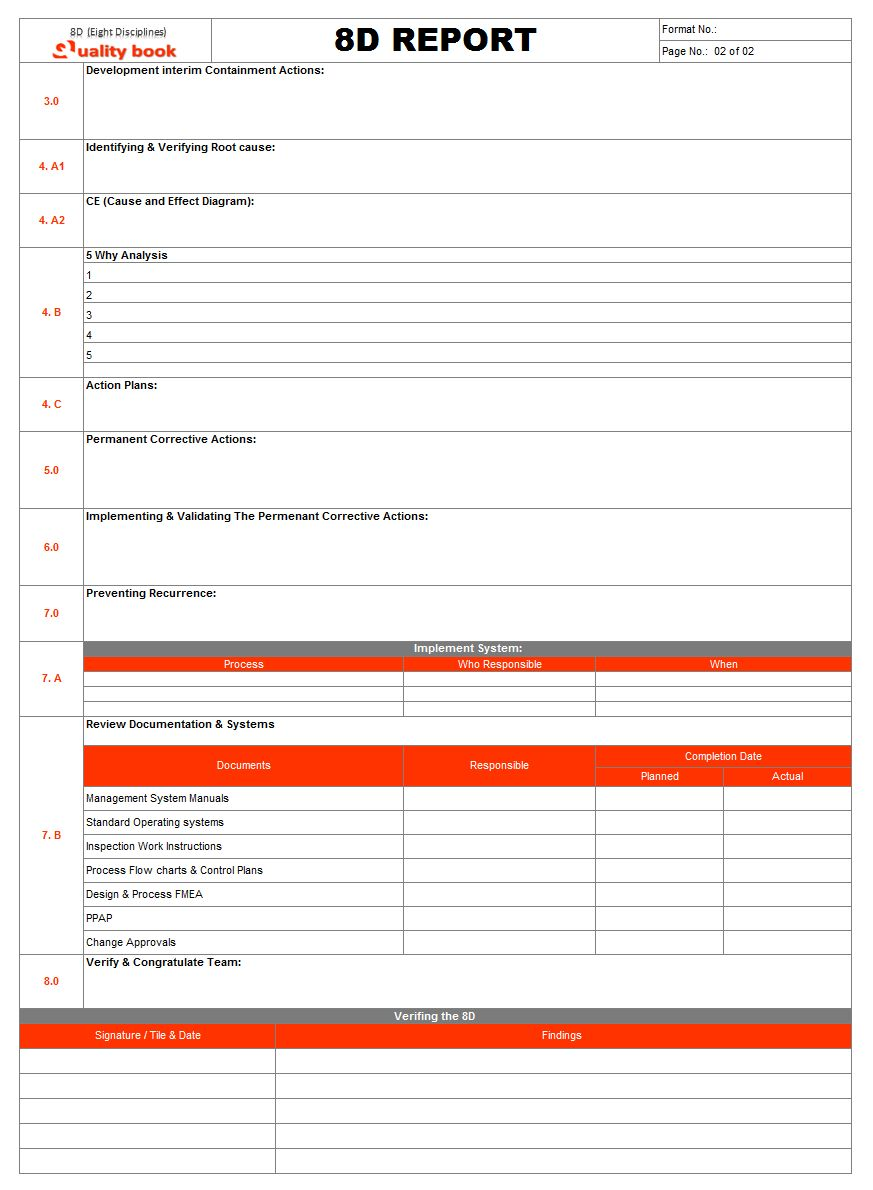 The Outstanding Report Template Powerpoint Word Pdf Excel Download Vorlage For 8d Report Template Pics Below Is In 2020 Report Template Problem Solving Best Templates