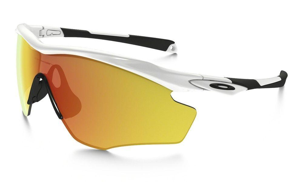 a002f201689 eBay  Sponsored New Oakley M2 Frame Sunglasses White Orange Mirror -  Authentic 009343-05