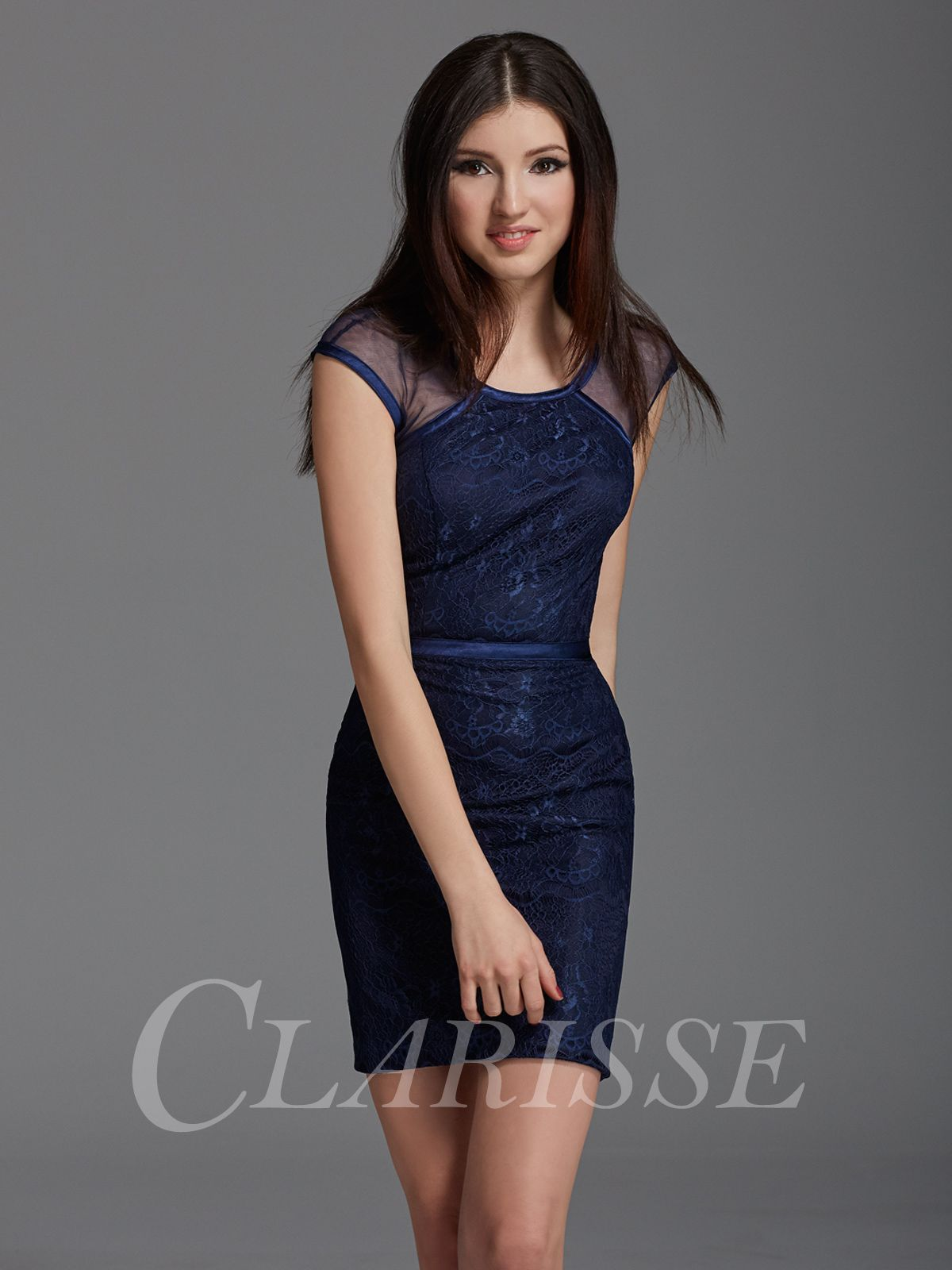 89b281e22b6 Navy blue lace short tight bodycon cocktail and homecoming dress for 2016!  Perfect for wedding guests