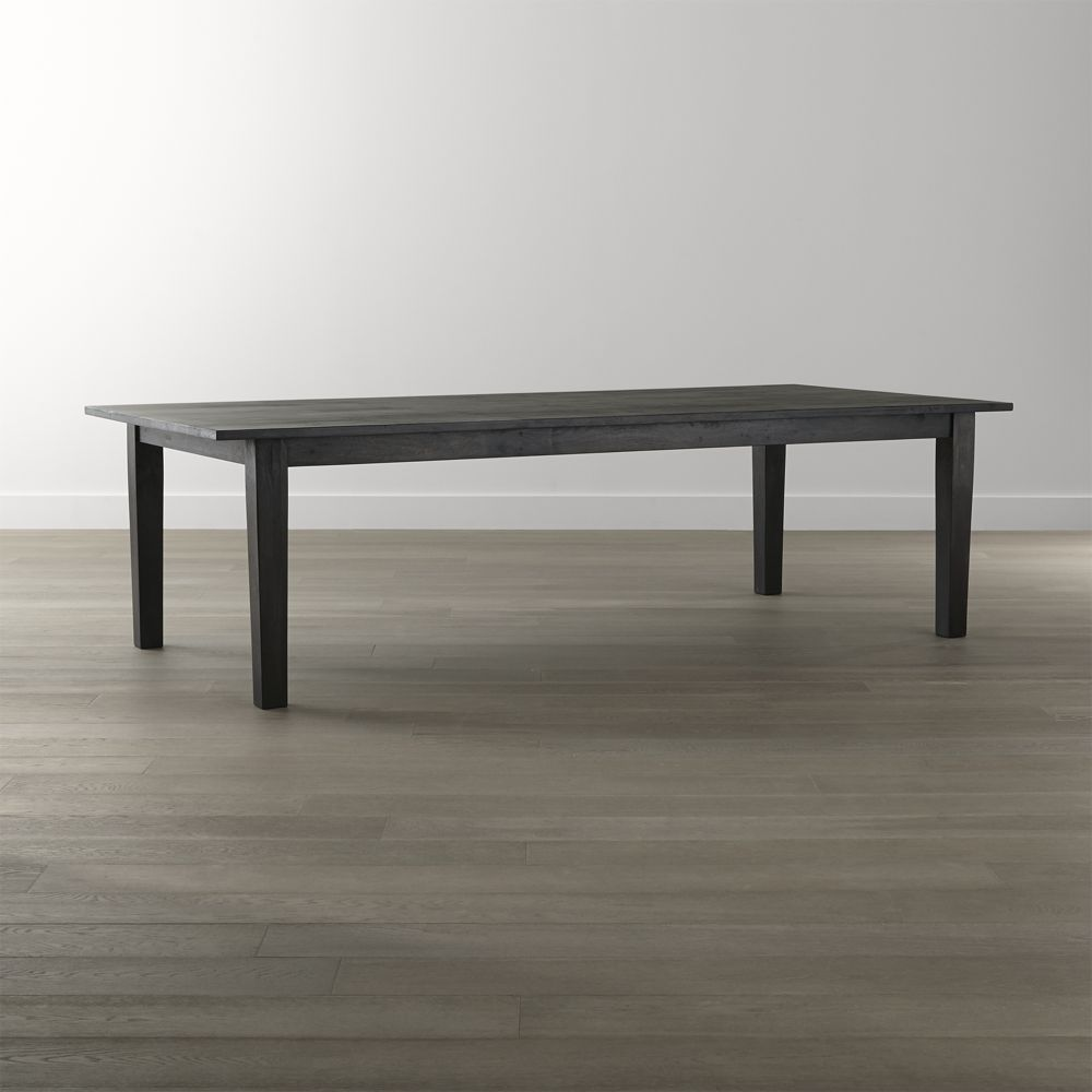 """basque java 104"""" dining table  crate and barrel  12"""