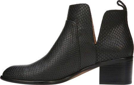 76603f63f97 Franco Sarto Richland 2 Bootie - Black Metallic Snake Print Leather 7.5