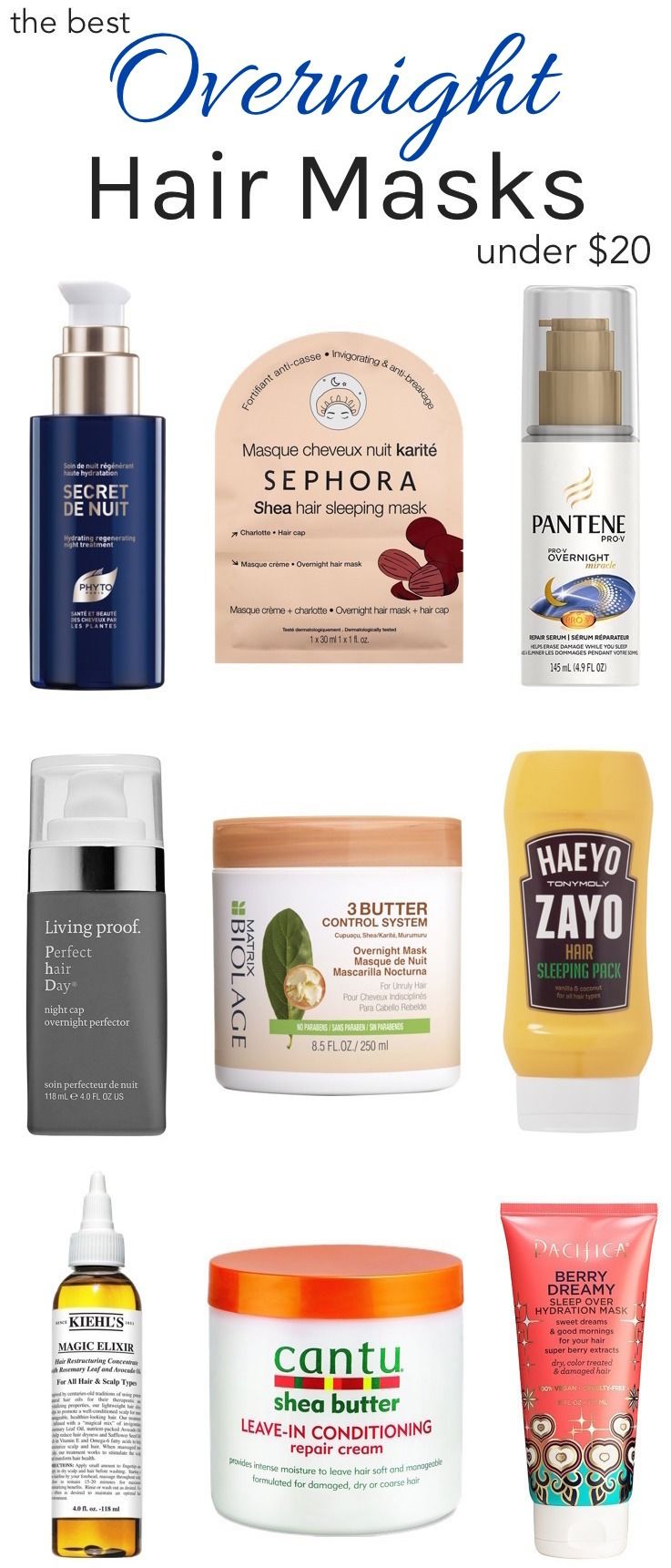 The Best Under 20 Overnight Hair Treatments For Dry Damaged Hair