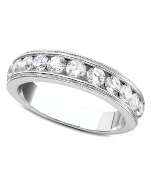 Round-Cut Diamond Band Ring in 14k White Gold (1 ct. t.w.)