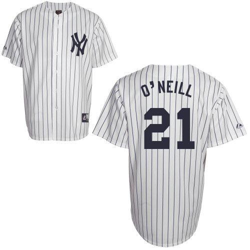 timeless design 7fcf1 d561d Paul O'Neill New York Yankees Pinstripe Cooperstown Replica ...
