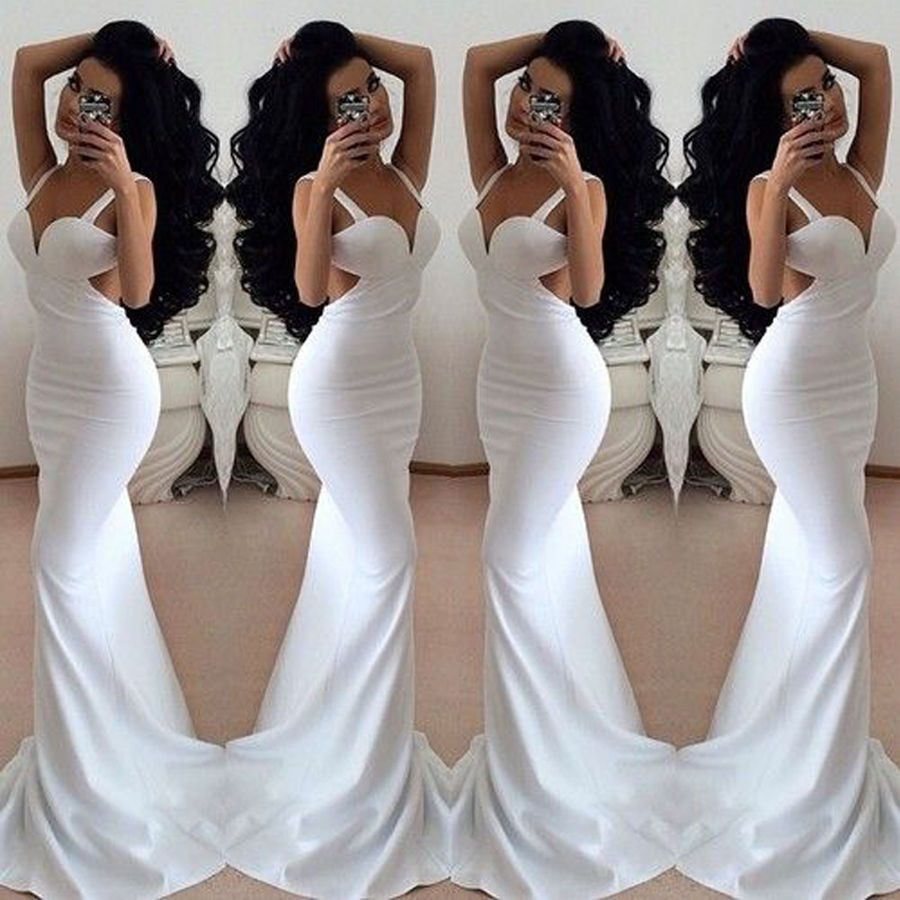 Elegant womens ladies sexy backless party evening cocktail prom long