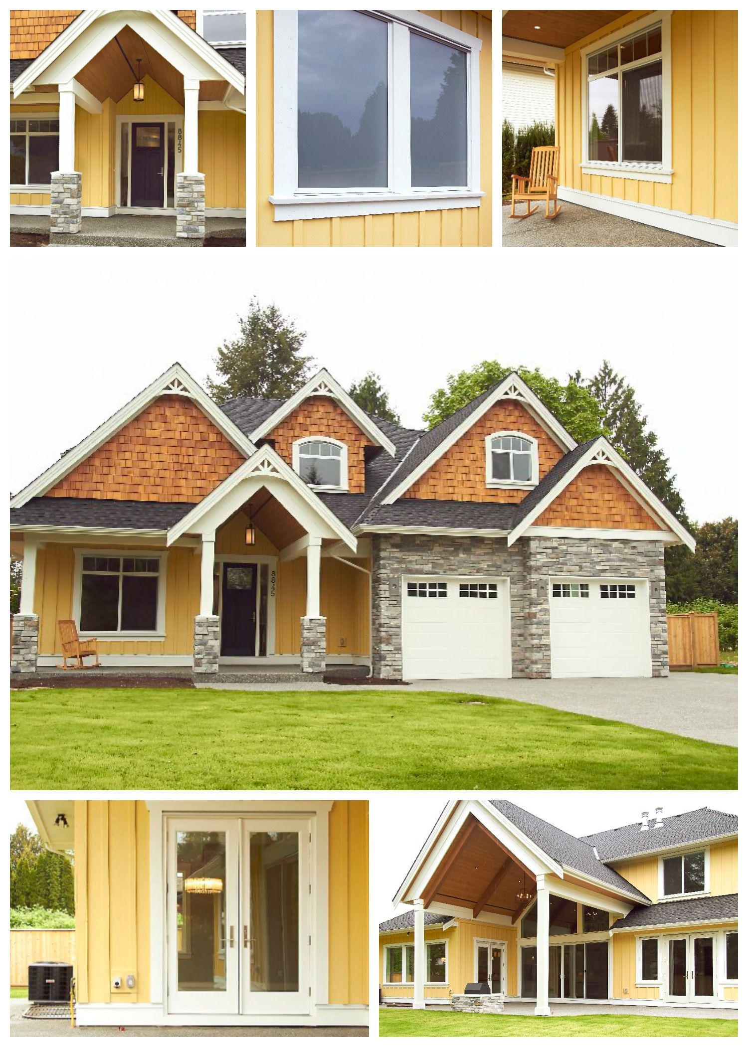 Best Cedar Shingles And Bright Yellow Siding Give This 400 x 300