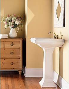 Bathroom painted in Hot Sand and Tan Glow | Choosing ...