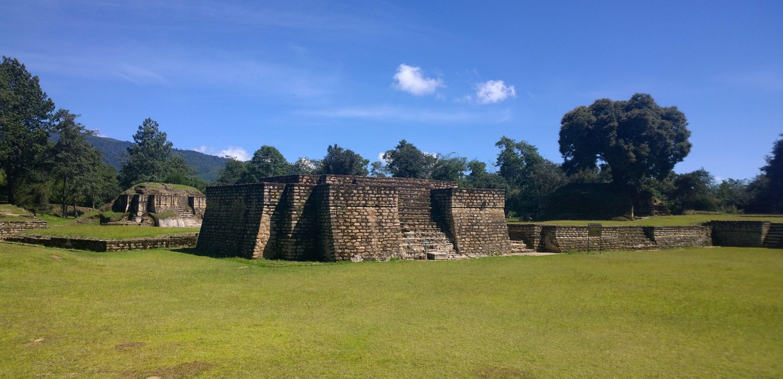 The pyramid-temple ruins of Iximche, Guatemala