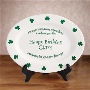 Irish Proverb 11 inch Custom Ceramic Birthday Plate is One of Our Celtic Presents & Irish Proverb 11 inch Custom Ceramic Birthday Plate is One of Our ...