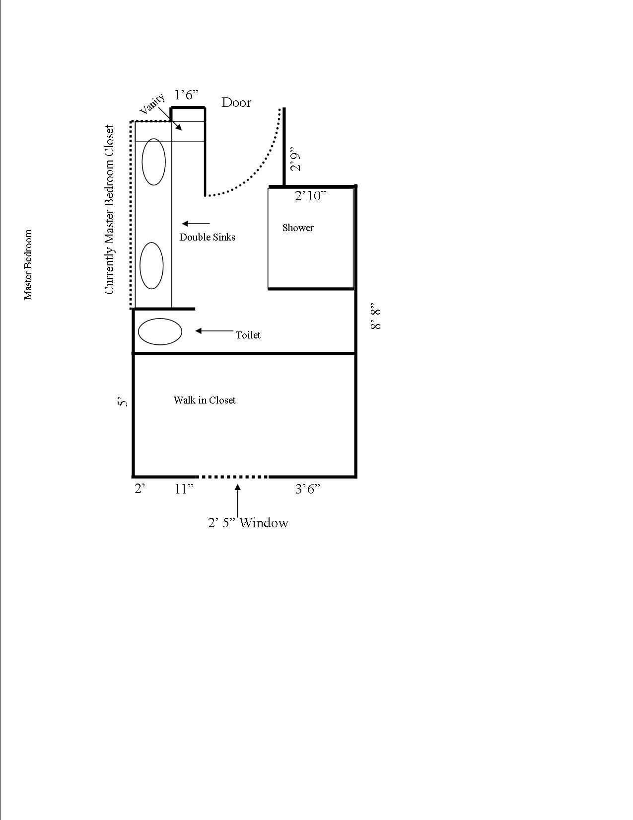 Nice Small Bathroom Layout For Private Living Space: Simple Bathroom ...