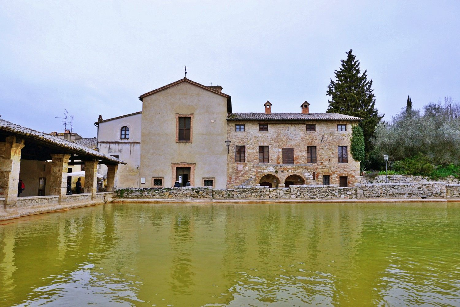 Bagno Vignoni Where The Main Piazza Is A Hot Water Pool House