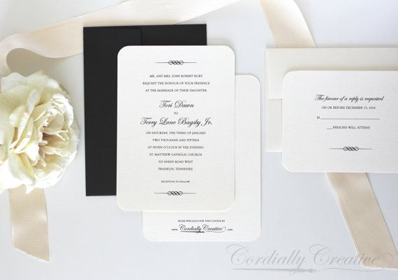 scroll wedding invitations with rsvp cards