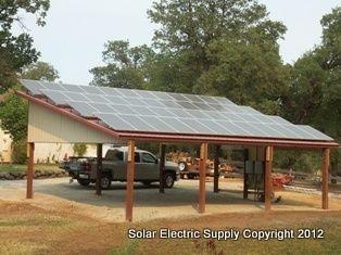 Carports For Hill Sides Ses 10 Kw Sharp Solar System On Carport