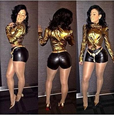 las mujeres sexy de cuero de imitación vendaje bodycon traje de vestir celeb keyshia kaoir mono superior de oro negro pantalones cortos 2 piezas set party clubwear