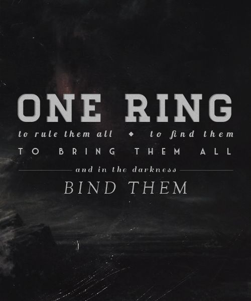 One Ring To Rule Them All Quote Page Number One Ring To Rule Them All To Find Them To Bring Them All And In The Darkness Bind Them Lotr Lord Of The Rings The Hobbit Lotr