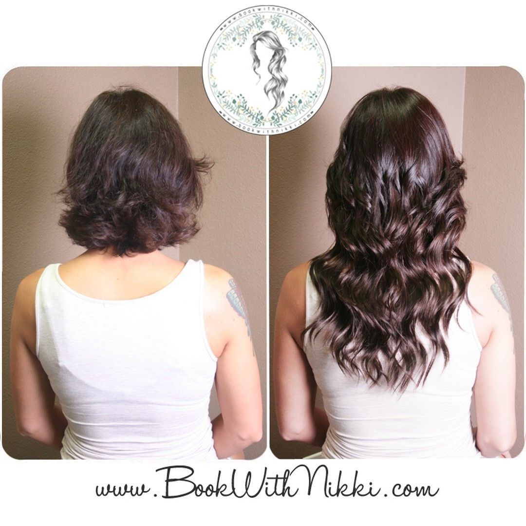 Check out this amazing before and after of my signature hair extensions done on my amazing client! You can get hair extensions for length, thickness, pops of color, or all of the above! Check out my website at http://www.BookWithNikki.com for more information. You can also call or text my cell at 213-787-HAIR to book a reservation. You can also keep in touch on Facebook and Twitter as well! #fullerton #fullerton #orangecounty #longhair #hair  #hairextensions  #hairinspiration #beforeandafter