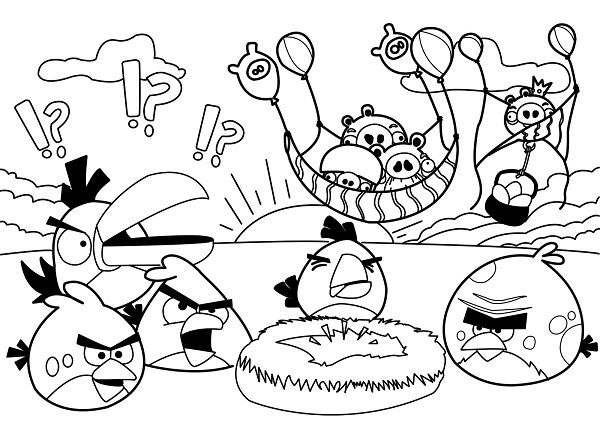 Angry Birds Boyama Ev Için Fikirler Angry Birds Para Colorear