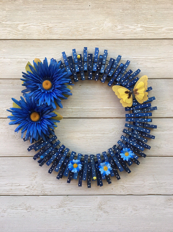 Photo of Spring Clothespin Wreath/Summer Wreath/Spring Wreath/Spring Decor