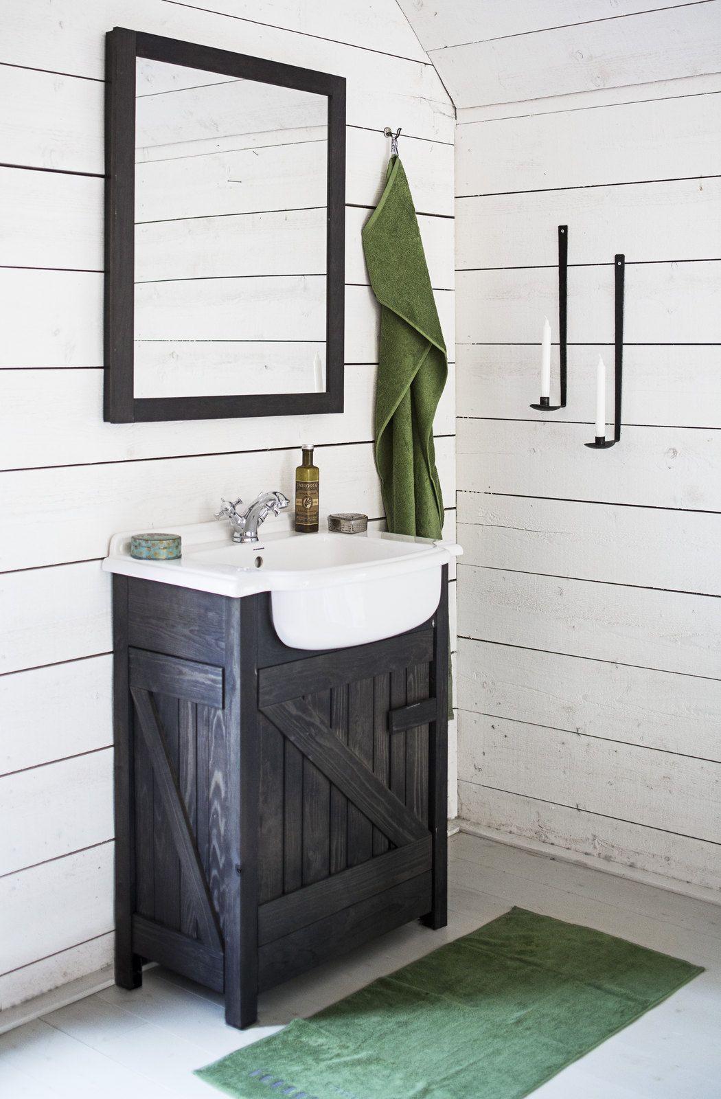 Kylpyhuonekalusteet tulvillaan rustiikkia flirttiä! - Bathroom ...