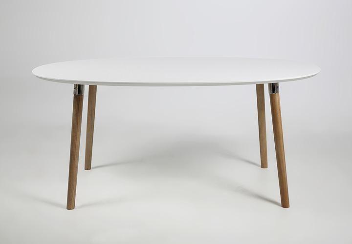 Esstisch BELINA Weiß Lack matt und massiv ausziehbar 170-270