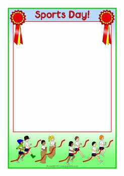 Sports Day A4 page borders (SB4764) - SparkleBox | marcos ...