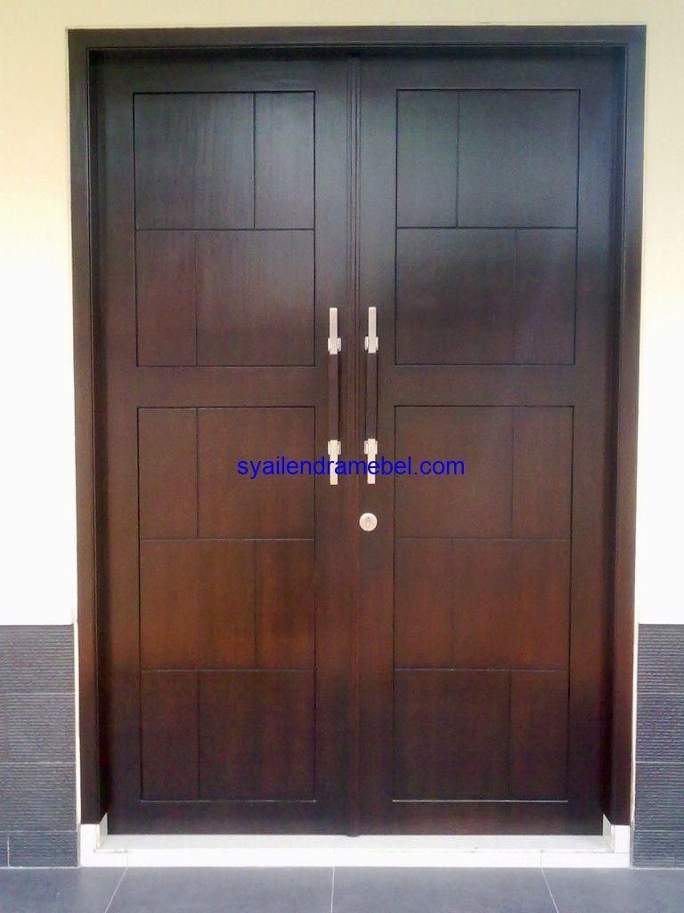 Pintu Kayu Jati Minimalis   Syailendra Mebel Jepara