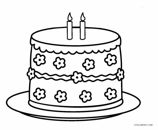 30 Great Picture Of Birthday Cake Coloring Page Big Birthday