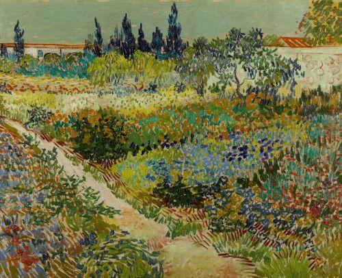 "laclefdescoeurs: "" Garden at Arles, 1888, Vincent van Gogh """