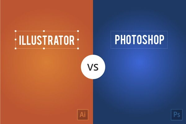 Minimalist Graphics Compare Adobe Illustrator And Photoshop - DesignTAXI.com