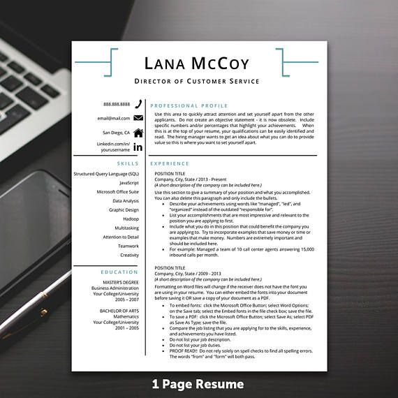 Resume Template Professional Resume Template Modern Resume Resume - Resume Now Customer Service