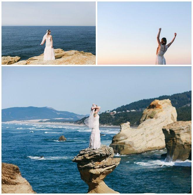 Cape Kiwanda Wedding Dress Inspiration Shoot By Love Lit Photography