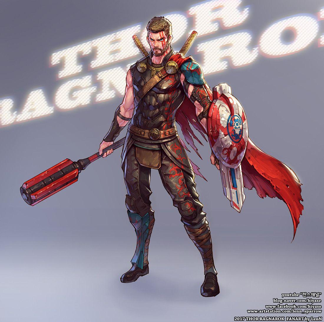 ArtStation Thor Ragnarok SpeedPainting, Shin TaeHwan