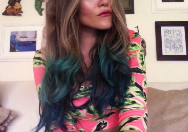 Check it! Mermaid hair DIY!!!   <3 Stela 9