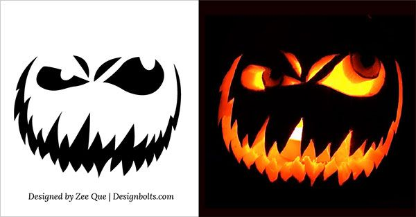 10 free scary halloween pumpkin carving patterns stencils ideas 2014 - Free Scary Halloween Pumpkin Carving Patterns