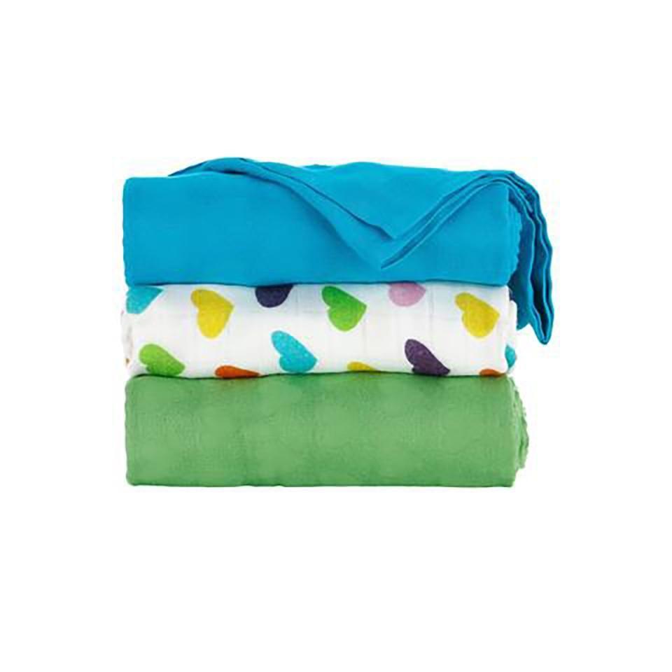 Tula Blanket Set- Rainbow Hearts Oliver